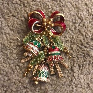 St. John holiday brooch